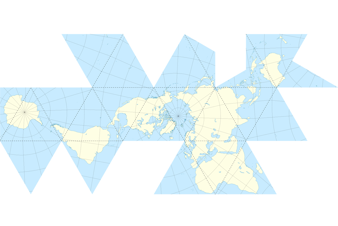 A new trim for the Dymaxion Map