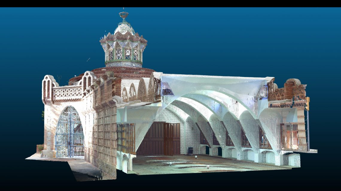 Construction study and drawing of the Güell Pavillions from Antoni Gaudí for its restoration